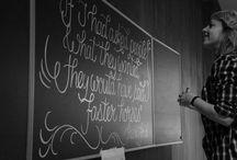 Hand lettering by me / Hand lettering, illustration, doodles, chalk board lettering, chalk art by Mariëlla van Leeuwen