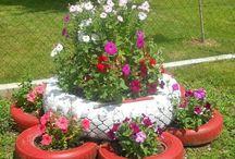 decorando jardim
