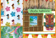 Decoracion hawaiana.