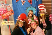 Library - Dr. Seuss party