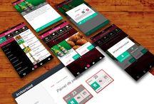 Design UX - App / Design do aplicativo para celular Instaurant. Cardápio digital no celular do cliente de restaurantes, hotéis e cafeterias.