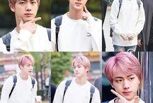 bts pink hair