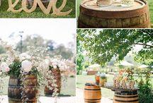 Wedding wine barrel ideas