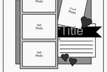 Scrapbook 4+photos sketch