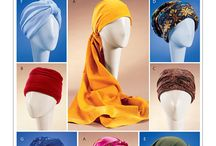 Caps Hats Turbans Scrafts Head Coverings Sewing Patterns