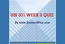 HIS 301 Week 2 Quiz