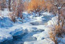 pittura neve