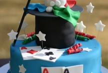birthday cakes--magic theme