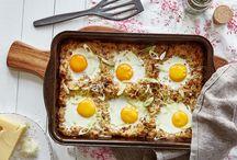 Auflauf mit Kartoffeln und Ei