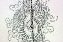 Zentagle, dibujo abstracto