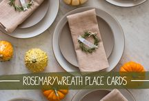 Thanksgiving Table / Fun and simple decorations like place cards and centerpieces for your Thanksgiving table. / by girl*in*gear studio