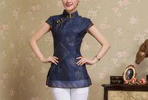 blusas corte oriental