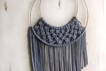 knitting, crochet and macrame