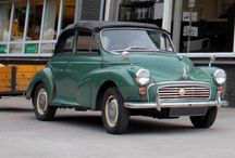 Green Morris Minor with trailer / by David Manners Group
