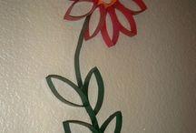 Criando flores de papel