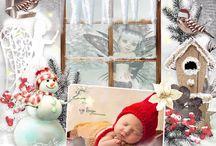 Bundle Cold December by PerlineDesign / Hiver, neige, Noël