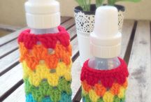 Crochet bottle jar cozy