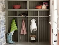 sárszoba / mudroom inspiration