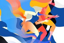 Sporty illustration