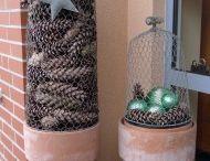 Winterdeko / Dekorationen im Winter, zum Advent und zur Weihnachtszeit.
