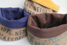 Toile de jute upcyclée / Sacs en toile de jute détournés de leur utilisation première, le transport du café depuis les plantations jusqu'à nos torréfacteurs.