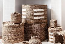 ARTHA Collections - Baskets / Hand crocheted from rope made from the dried leaves of the banana plant our baskets are perfect storage and decorative pieces.  Support the livelihoods of our artisan partners with these eco-friendly pieces.