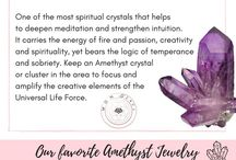 Amethyst Crystal Jewellery / Increase Your Intuition and Connection to the Divine Spirit with the King Of Crystals - Amethyst  https://www.mongrace.com/collections/necklaces