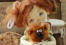 авторские куклы /  о куклах в разной технике и из разных  материалов