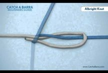 Animated  fishing knots / Their are 21 animated knots found @ http://www.catchabarra.com/fishing-knotes/  You should have the following knots;   Albright Knot  Arbor Knot  Australian Braid Knot  Binimi Twist Knot  Blood Knot  Dropper Loop Knot  Duncan (uni) Knot  Egg Loop Knot  Improved Clinch Knot  Nail Knot  Non-Slip Mono Knot  Orvis Knot  Palomar Knot  Perfection (Angler's) Loop Knot  Rapala Knot  San Diego Jam Knot  Slim Beauty Knot  Snell Knot  Surgeon's Knot  Surgeon's Loop Knot  Trilene Knot