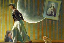 Um mundo encantador pintado por Jimmy Lawlor