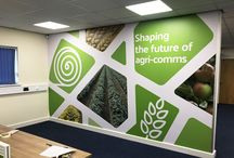 Wide-Format Print / Transform your space with a large custom wide format print. Large vinyl wall covers are perfect for branding your office space and giving your favourite artwork some love. Click a pin and follow the link to learn more.