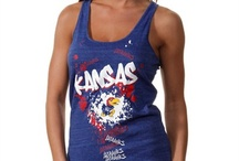 Kansas Jayhawks Gear / Savor the adrenaline of gameday with officially licensed Kansas Jayhawks apparel and merchandise from the ultimate sports store! Sport your enthusiasm for University of Kansas athletics with licensed Kansas Jayhawks jerseys, T-Shirts, hats and sweatshirts from Football Fanatics. Get your Kansas clothing and gear from the Ultimate Sports Store and take advantage of our low $4.99 3-day shipping on your entire order! Rock Chalk Jayhawk! / by Fanatics ®