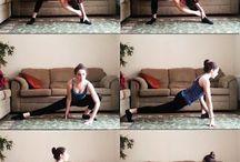 Workout stretching