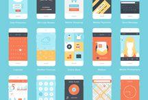 Flat Mobile Design / Flat Mobile Design