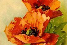 kwiaty malowane