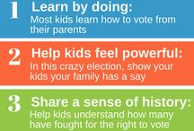 #FamilyVote / Kids learn to vote from their parents. Take your kids to the polls and post a #familyvote selfie outside afterwards! Spread the word.