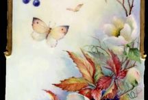 targa con farfalla