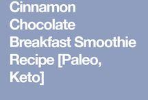 Choc cinnamon Keto smoothy