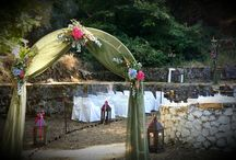 Wedding arches / Aψίδες του γάμου / Flower arches for wedding ceremonies and decoration by Gourioti Flowers / γαμήλια αψίδες για τις τελετές και τη διακόσμηση