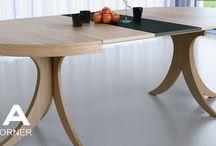 Mesa de comedor Skon /  Mesa de comedor Skon. Este tipo de mesa es una mesa comedor de pie, fija y a su vez extensible. La mesa se presenta en tres medidas disponibles 96 cm, 110cm y 120cm y es la mesa perfecta para adquirir en tu tienda de Muebles Madrid Mia Home.