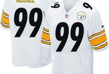 Steelers Brett Keisel Black Authentic Jersey For Women's & Youth & Men's All Size