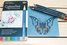 ColourTint from Spectrum Noir / Our ColourTint pencils are artist's quality, graphite based pencils with just a hint of colour. They produce a beautiful muted effect that can be enhanced by blending with water.  For a unique, sophisticated finish that's a little bit different...