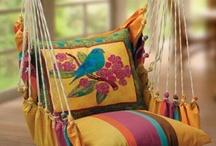 HOME/DECOR / Home colourful.interiors plllows utensils etc / by Soumik Roy