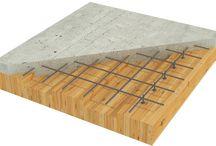 Kl-trä betong konstruktion