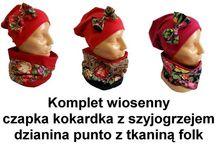 Folk na szyi i głowie :) / przedstawiam tu moje kominy, szyjogrzeje i czapki