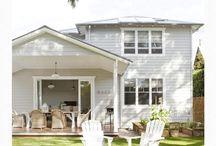 White exterior house