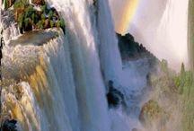 Waterfall moving