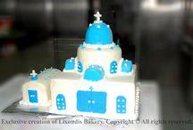 Lixoudis Bakery Pastry Santorini Wedding Cakes to try / Wedding cakes, birthday cakes, cake pops, wedding favours, cupcakes, anniversary cakes