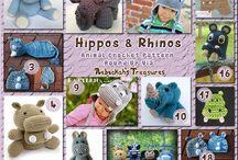 Ippopotami - Hippos Crochet