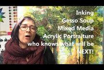My art teaching practice / Youtube clips on art demonstrations
